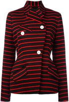 Proenza Schouler wrap front striped jacket - women - Cotton/Viscose/Wool - 6