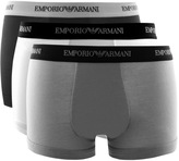 Giorgio Armani Emporio Underwear 3 Pack Trunks Grey