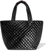 M Z Wallace Metro Medium Quilted Patent-shell Tote - Black