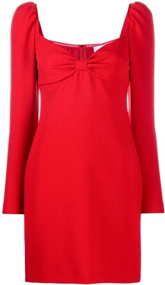 RED Valentino Bow-Detail Long-Sleeve Dress