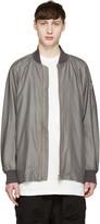 Attachment Grey Satin Bomber Jacket