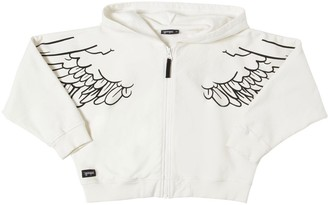 Yporqué Cropped Cotton Sweatshirt Hoodie