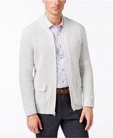 Alfani Men's Big and Tall Flap-Pocket Full-Zip Cardigan, Only at Macy's