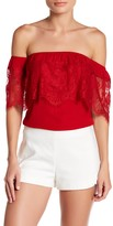 Socialite Lace Off-the-Shoulder Blouse