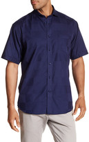 Thomas Dean Checked Short Sleeve Regular Fit Shirt