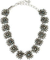 Oscar de la Renta Crystal Cluster Collar Necklace