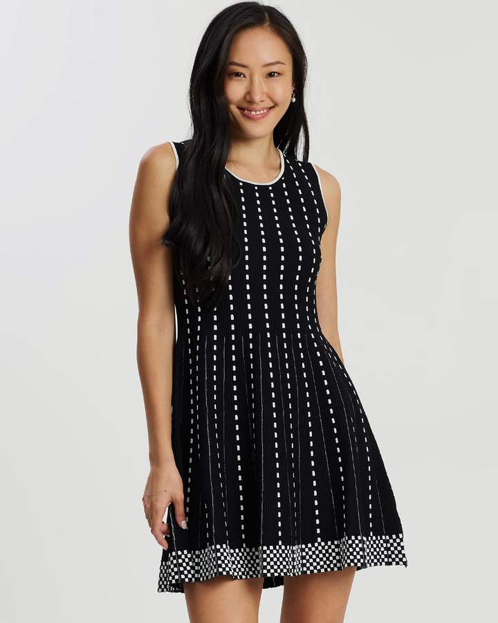 Forcast Aria Contrast Knit Dress