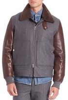 Brunello Cucinelli Zip-Front Fur Collar Jacket