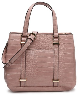 Kelly & Katie Women's Elli Satchel Faux Leather In Color: Blush Bag From Sole Society