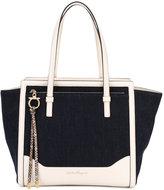 Salvatore Ferragamo denim tote bag - women - Cotton/Calf Leather - One Size