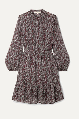 Vanessa Bruno Manuela Printed Gauze Mini Dress - Purple