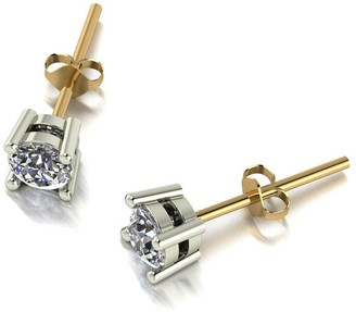 Moissanite 9Ct Gold 0.50Ct Solitaire Earrings