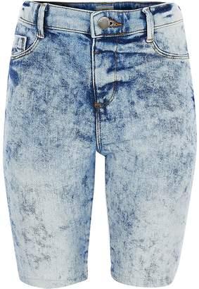 River Island Girls acid wash denim cycling shorts