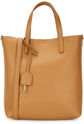 Saint Laurent Toy mustard leather tote