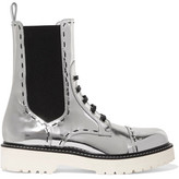 Dolce & Gabbana Metallic Leather Boots - Silver