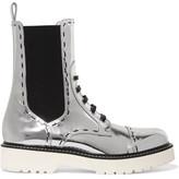 Dolce & Gabbana Metallic Leather Boots - Silver