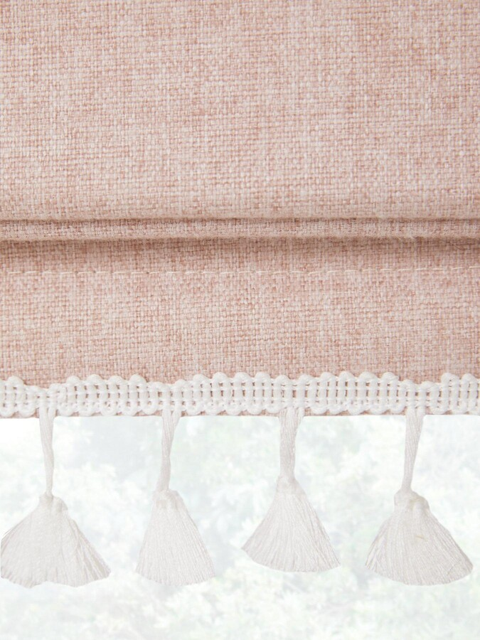 Thumbnail for your product : Very Blackout Roman Blind With Tassel Trim