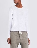 James Perse Semi-sheer cotton-jersey top