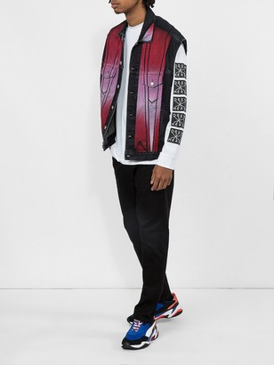 Adaptation Denim Contrast Vest Black