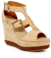 Blackstone Peep Toe Wedge Sandal