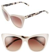 Ted Baker Women's 54Mm Cat Eye Sunglasses - Beige