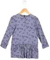 Tartine et Chocolat Girls' Bow Print Long Sleeve Top