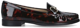 Carvela Leather Leopard Print Click Loafers
