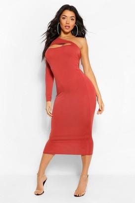 boohoo One Shoulder Cut Out Bodycon Midaxi Dress