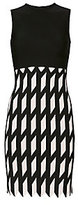David Koma Zigzag Pattern Knit Dress