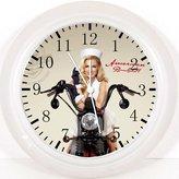 "Ikea New Military Motor Bike Sexy Girl Wall Clock 10"" Will Be Nice Gift and Room Wall Decor Y71"