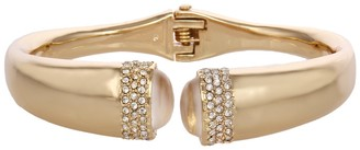 Laundry by Shelli Segal Crystal Pave Hinged Cuff Bracelet