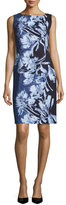 Lafayette 148 New York Faith Sleeveless Floral-Print Sheath Dress, Multi