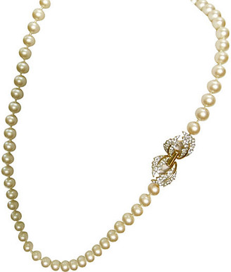 One Kings Lane Vintage Givenchy Deco Revival Pearl Necklace - Wisteria Antiques Etc - pearl/gold
