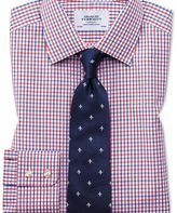 Charles Tyrwhitt Classic fit two colour check red and blue shirt