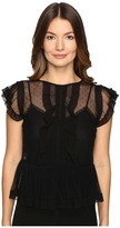 RED Valentino Point D'Esprit and Tulle Top Women's Clothing