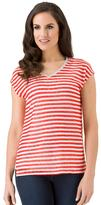 Haggar Women's Striped Drop-Shoulder Top
