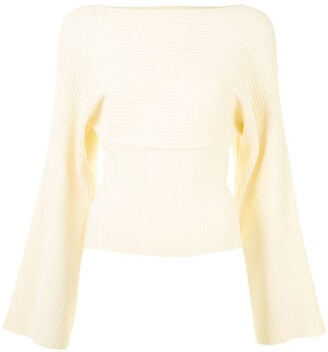 Dion Lee Ribbed Knit Boat Neck Top