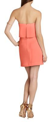 BCBGMAXAZRIA Kate Strapless Popover Dress