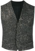 Haider Ackermann sequined waistcoat - men - Cotton/Acrylic/Nylon/Virgin Wool - 46