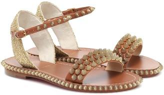 Christian Louboutin Cordorella embellished leather sandals
