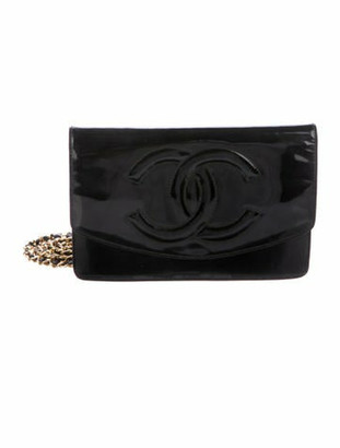 Chanel Vintage Timeless Wallet On Chain Black