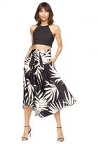 Milly Palm Print Midi Jackie Skirt