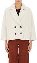 Masscob WOMEN'S SHERPA CROP PEACOAT