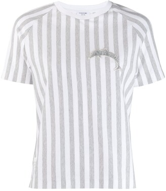 Thom Browne dolphin-applique striped T-shirt