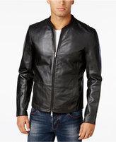 Armani Exchange Men's Foundation Leather Jacket