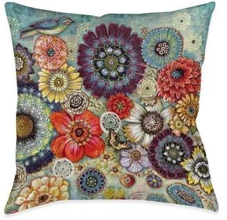 Winston Porter Trumann Blue Bird Boho Indoor/Outdoor Throw Pillow