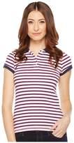 U.S. Polo Assn. Chest Stripe Polo Shirt w/ Logo Patch
