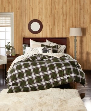 G.H. Bass & Co. Newfield Plaid Cotton Flannel Reversible King Comforter Set