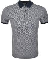 Antony Morato Short Sleeved Pattern Polo Tee Navy