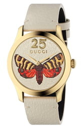 Gucci G-Timeless Leather Strap Watch, 37mm